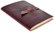 Worldoftextile Gifts Brown Colour Leather Diary Journal Notebook Handcrafted With Unlined Eco-Friendly Pages