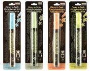Set of 4 Glow In The Dark DecoFabric Marker By Marvy Uchida - 4 Fabric Markers