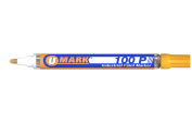 Yellow Valve Action Metal Paint Marker U-Mark, Made In USA