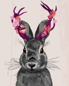 Dorara DIY Oil Painting Paint By Number Hand Paintworks 16×50cm Rabbit