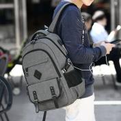College Studentst Backpack with USB Charging Port Laptop Backpack Business Backpack Travel Bag for Men Women Fits Under 43cm Laptop