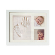 Beautiful Baby Handprint & Footprint Picture Frame Kit For Both Boys and Girls, Memorable Lifetime Gift