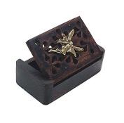 Golden Tooth Fairy Rosewood Keepsake Box for Children