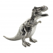 Knight silver plated T-Rex dinosaur money box