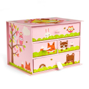 Woodland Critters Four Drawer Box
