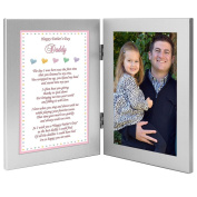 Baby Girl Frame for Daddy on Father's Day - Sweet Words for Dad from Daughter - Add Photo
