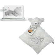 Baby Christening Baptism Bundle. 2 Items; 1 Demdaco Baby God Bless Baby Cross Frame, 1 God bless this baby - Security Blanket
