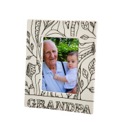 Blossoms & Buds Grandpa Colouring Book Inspired Ceramic Picture Frame