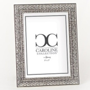Roman Inc. Caroline Collection Wedding / Anniversary 22cm H Frame with Crystal Holds 5x 7 Photo