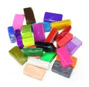 Rukiwa 24pcs Malleable Fimo Polymer Modelling Soft Clay Blocks Plasticine DIY