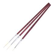 DDLBiz 3Pcs Painting Drawing Dotting DIY Acrylic Tips Liner Nail Art Pens Set