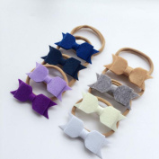 8PCS Blanket cloth double bowknot nylon hair with baby photography props