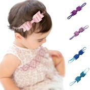 Shiny bow tie band New newborn headbands chiffon flowers hair accessories for children