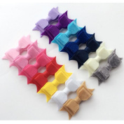 """14PCS Three - layer swallowtail children bow tie clip baby duckbill hair trim headdress"""