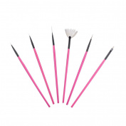 DDLBiz 6Pcs Nail Art Acrylic UV Gel Design Brush Set Painting Carving Dotting Pen