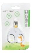 LITTLE Bot Baby Nail Safety Scissors, Rounded Tips, Protective Cover, Ergonomic Design for Infants/Toddlers