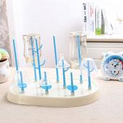 Bottle Brush Nipple Baby Feeding Supplies Dishes Cleaning Kitchen Dryer Desktop Holder Folding Shelf