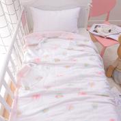 J-pinno Baby Sweet Pink Nursery Muslin Cotton Bed Quilt Blanket Crib Coverlet 110cm X 110cm