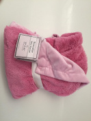 SL Baby Collection Pink Reversible Baby Blanket Girl 30x40 Sherpa Fleece Nursery