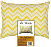 Toddler Travel Pillowcase 100% Cotton Pillow Case, Zigzag Yellow Chevron Covers 36cm x 48cm , or 33cm x 46cm Toddler Baby Travel Pillows Naturally Hypoallergenic Envelope Style Cases