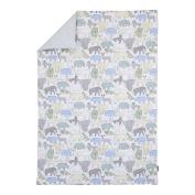 DwellStudio Caravan Animal Print Comforter, Aqua/Grey/Green/Yellow