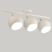 Modern Iron 3 Bulbs Adjustable Ceiling Spotlight,Creative LED Chandeliers,White Pendant Wall Lamp