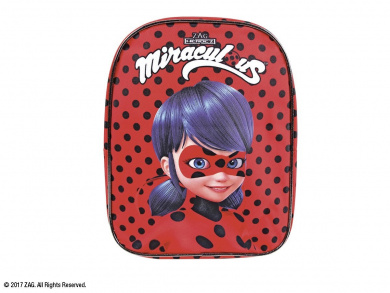 Miraculous tales of Lady Bug & Cat Noir– Backpack for kindergarten-aged little girl by Perletti