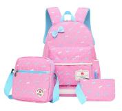Fanci 3Pcs Teenager Girls Bowknot Kids Backpack Primary School Book bag