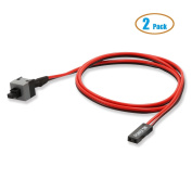 Electop 2 Pack 2 Pin SW PC Power Cable on/off Push Button ATX Computer Switch Wire 45cm
