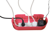 D-Line Small Cable Unit bundle with Chunky Reusable Hook and Loop Cable Ties – Pink