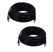 WennoW HD-SDI RG59 Video Cable D BNC Male to Male 7.6m - 2 PC