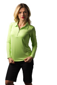 SanSoleil Women's Long Sleeve Uv 50 Solid Soltec Polo