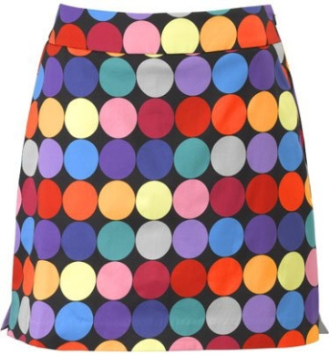 Loudmouth Golf Womens Skorts: Disco Balls Black - Size 12