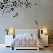 Sumen Removable Vinyl Flowers Wall Sticker For Home Decor
