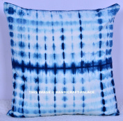 Home Decor Throw Square Cushion Pillow Shibori Stripe Handmade Indian Cotton Couch Hippie Sofa Bed Cover Handmade By Handicraft-Palace