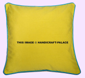 """Decorative 100% Cotton Indian Square Solid Toss Pillowcase Cushion Cover Pillow Case Only Cover No Insert - 16""""x16""""(40x40cm) Sofa Decor Sold By Handicraft-Palace"""
