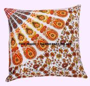 16x16 Pillow Cover Decorative Cushions Mandala Pillow Cover Square Sofa Cushion, Throw Pillow Shams, Home Decor Cushion Covers By Handicraft-Palace