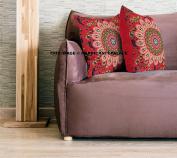 Euro Sham Pillow Cover Decorative Floor Cushion 46cm Ethnic Cotton Peacock Mandala Cushion Cover Indian Home Decor Pillow By Handicraft-Palace