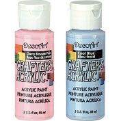 DecoArt Crafter's Acrylic Paint Springtime Set - Pink and Blue