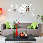 Wall Sticker,3D Mirror Vinyl Removable Wall Sticker Decal Home Decor Art DIY