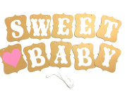 Timemorry TM-MS59 'Sweet Baby' Banner- Children's Party Supplies Photo Props- Paper Garland Banner- Baby Party Decorations