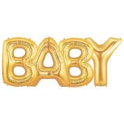 BABY Alphabet Word Balloons - Gold Foil Celebration Letters 100cm