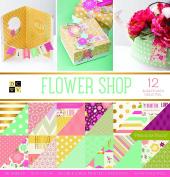 "DCWV Card Stock 30cm X12"" Flower Shop Premium Printed Cardstock Stack"