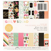 American Crafts Pebbles Girl Squad 15cm x 15cm 36 Sheet Paper Pad