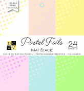 """DCWV Printed Stack 15cm X6"""" Double-Sided Foil Pastels"""