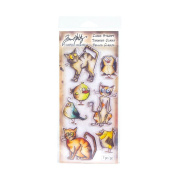 Tim Holtz Clear Stamps, Crazy Cats/Birds