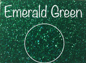 Emerald Green, Extra Fine Poly Glitter 1/128, 120ml Shaker Bottle