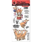 Art Impressions Funny Farm Cling Rubber Stamp-Old Goat