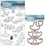 Prickley Pear 3 Piece Tree Clear Stamp and Die Set - CLR061 PPRS-D061 - Bundle 2 Items