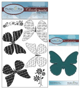 Prickley Pear Butterfly Sayings Clear Stamp and Die Set Butterflies - CLR001B & PPRS-D001 - Bundle 2 Items
